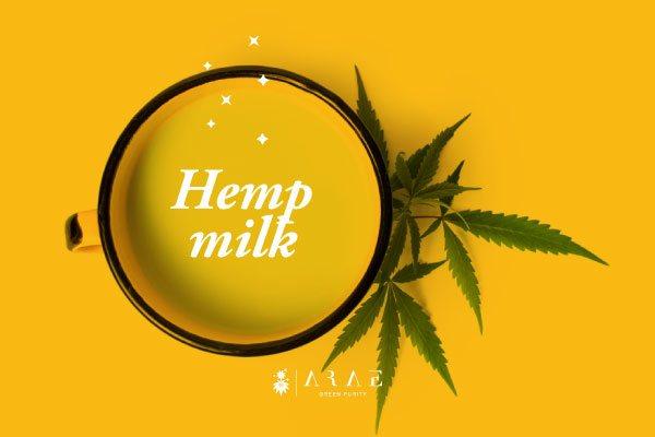 Cup of hemp milk