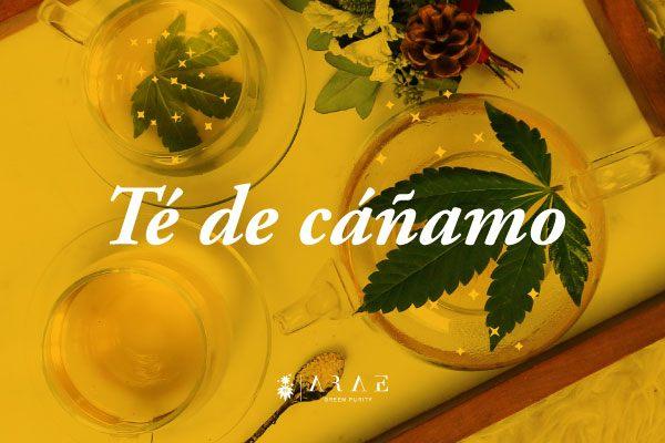 Imagen de una mesa con un servicio de té de cañamo